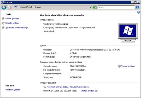 Windows Azure: Small instance hardware