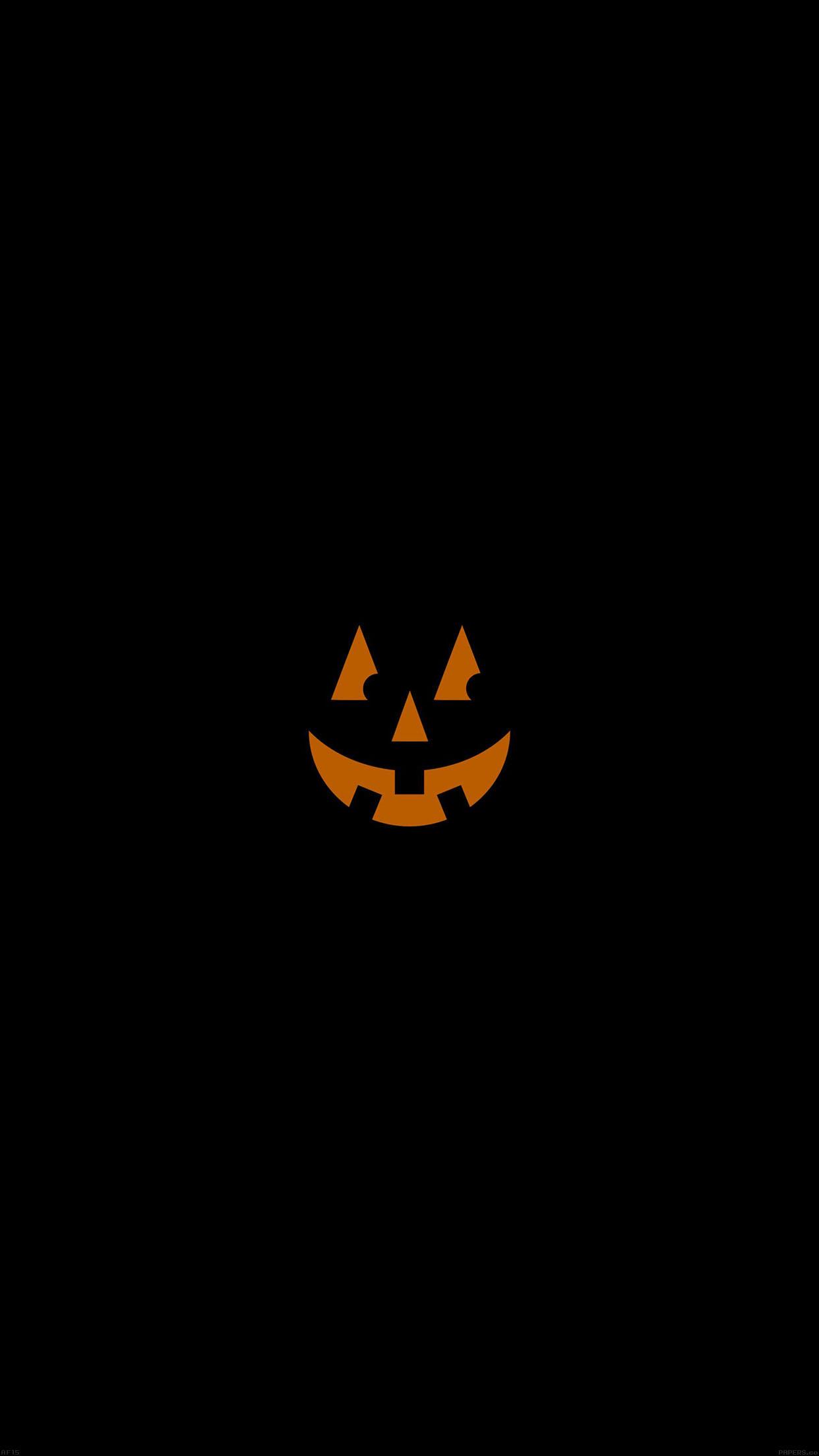 Iphone6papers Af15 Pumpkin Smile Halloween Minimal