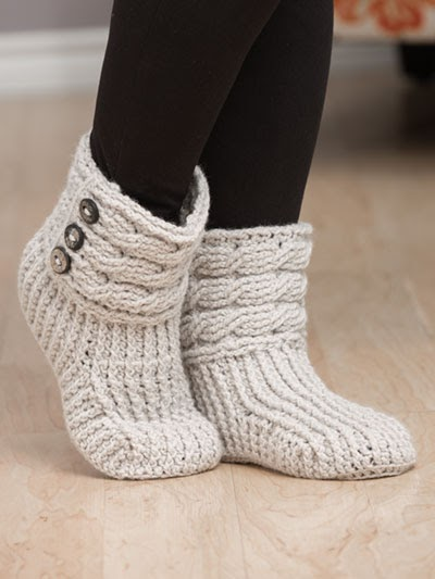 Crochet A Pair Of Cute Boots To Keep Your Feet Warm