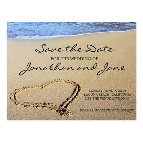 Beach Ocean Wedding Save the Date Postcard   Zazzle