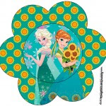 Topper Flor Frozen Fever Cute