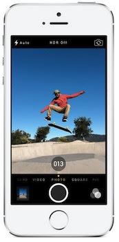 Burst mode camera on the iPhone