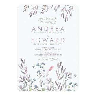 A Wildflower Wedding 5x7 Paper Invitation Card