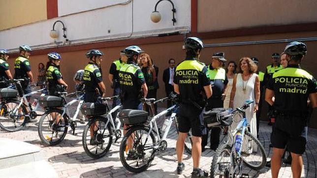 Policía municipal en bici