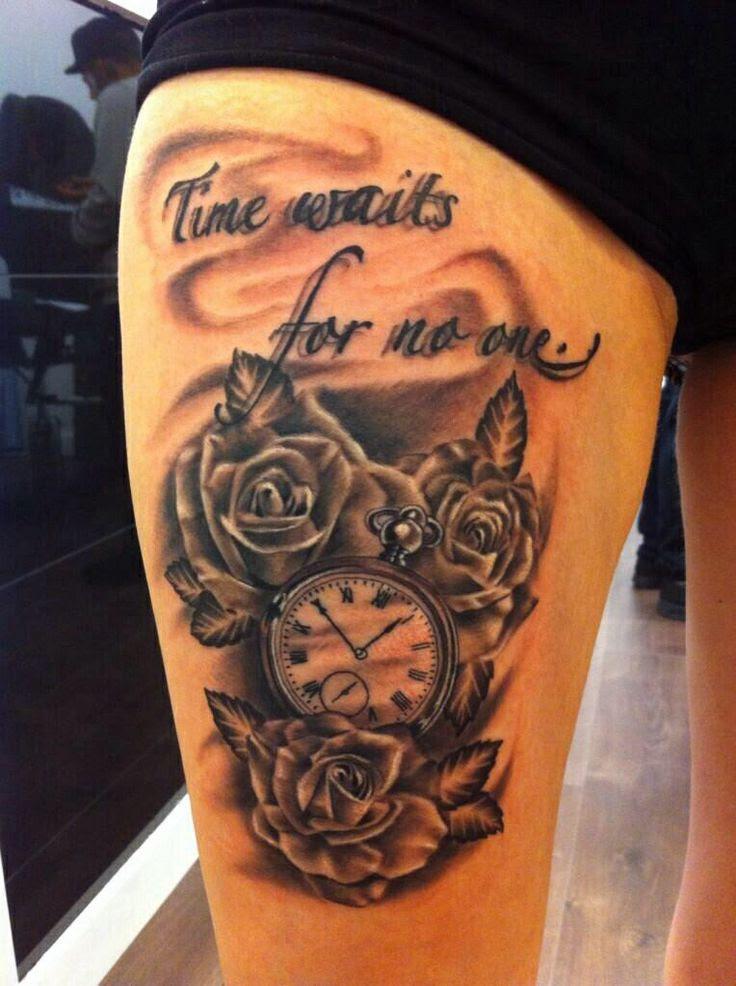 Similiar Time Waits For No One Tattoo Designs Keywords