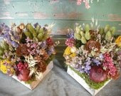 Set of 10 dried flower all natural centerpieces for your wedding