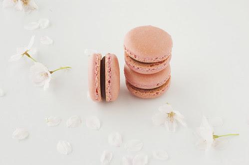 pink macarons - short stack
