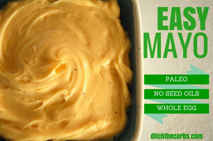 Easy Mayonnaise Recipe | ditchthecarbs.com