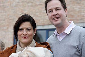 Nick Clegg with his wife, Miriam González Durá...