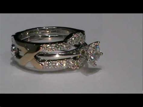 18k White & Rose Gold Custom Design Wedding Ring Enhancer