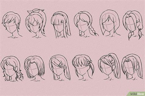 modi  disegnare  capelli  stile anime  manga