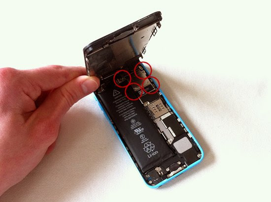iPhone 5C disassembly stage 5