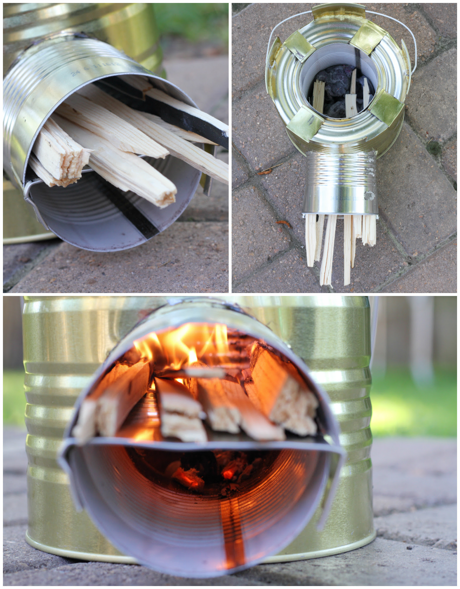 Construir un Rocket Stove-Una de las mejores y más eficientes maneras de cocinar en una emergencia! www.Prepared-Housewives.com alternativecooking # # # offgridcooking powerlesscooking