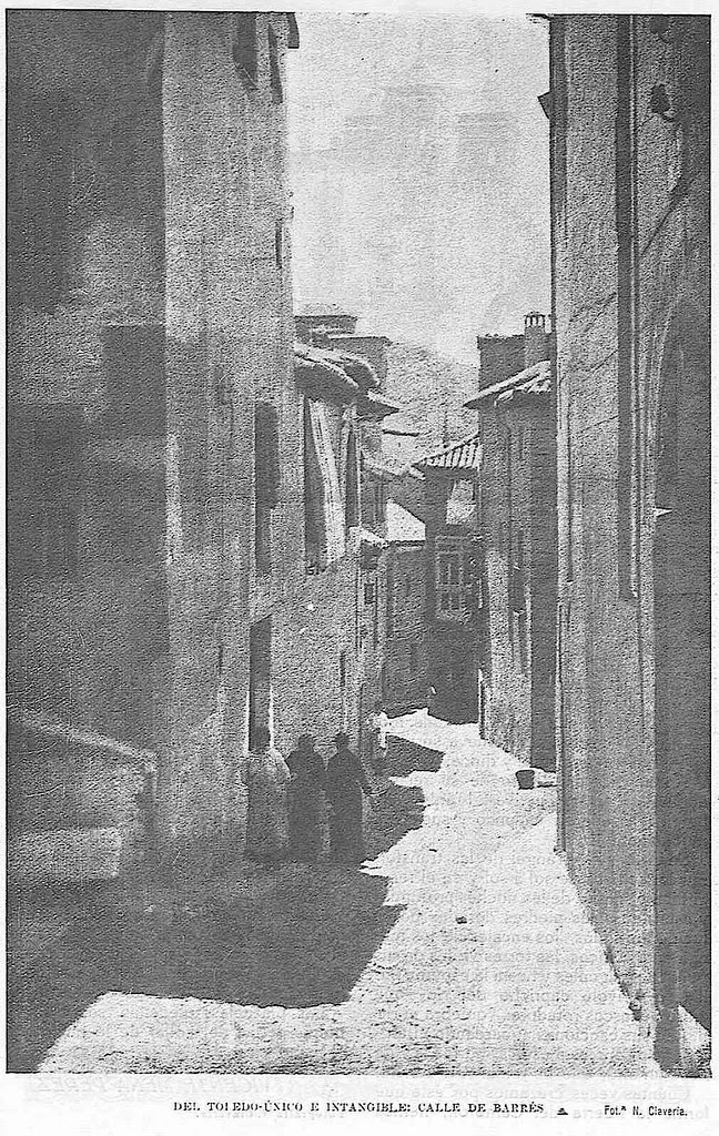 Bajada del Barco hacia 1927. Fotografía de Narciso Clavería publicada en noviembre de ese año en la Revista Toledo