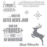 Wahre Weihnachtsfreude Clear-Mount Stamp Set (German) by Stampin' Up!