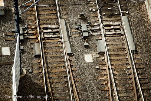 aerial train-tracks