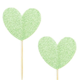 10 pics coeur glitter vert   www.savethedeco.com