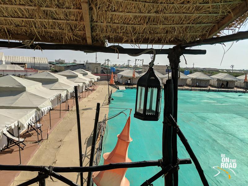 The tent accommodation at Rann Utsav