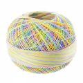 Fil de coton Lizbeth taille 40 Rainbow Taffy n°153 x274m