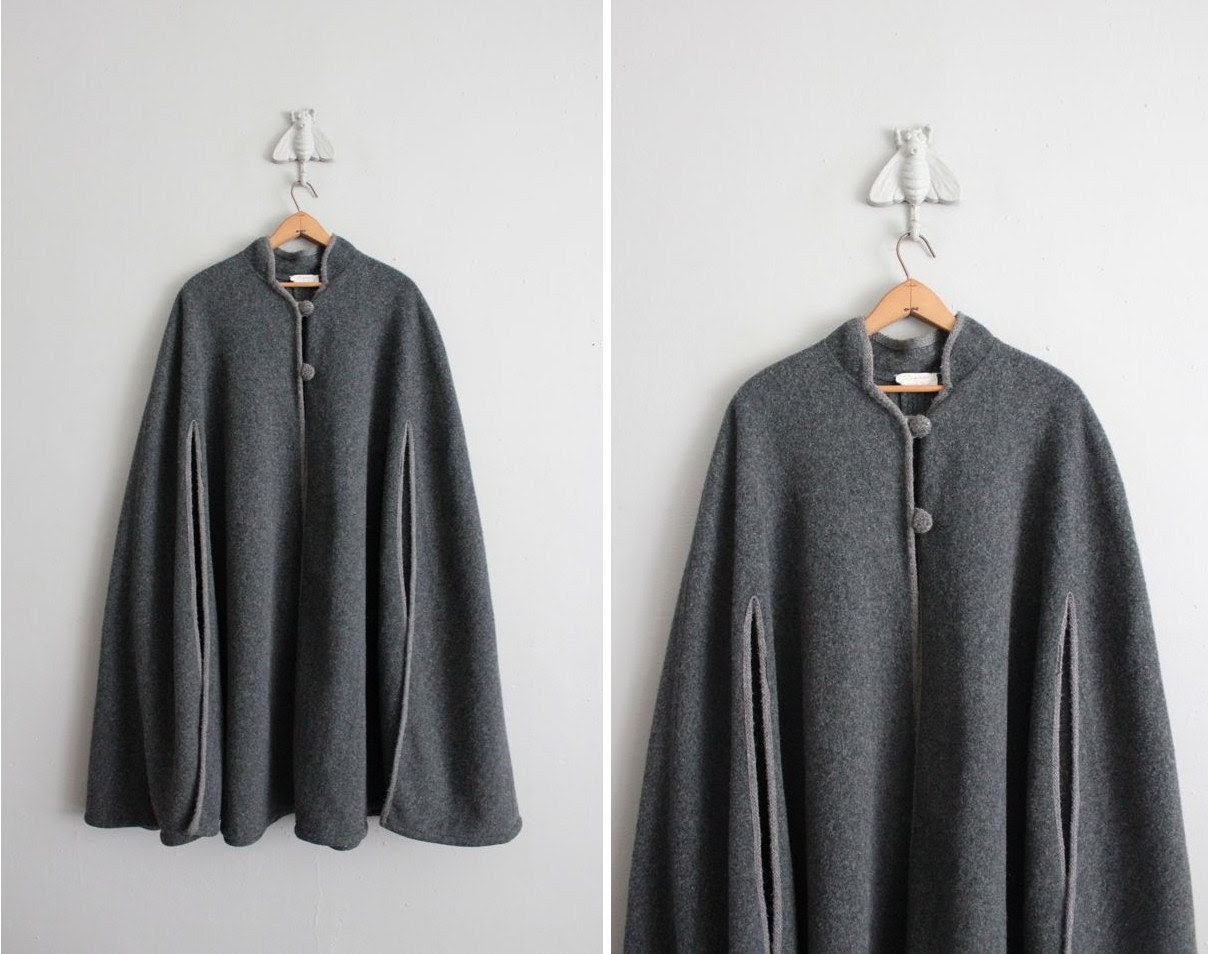 1960s vintage two grays wool cape