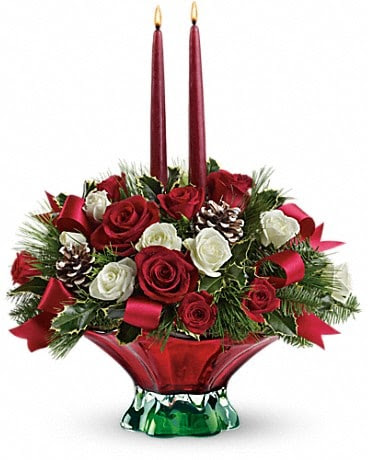 Teleflora S Colors Of Christmas Centerpiece In Oklahoma City Ok Array Of Flowers Gifts