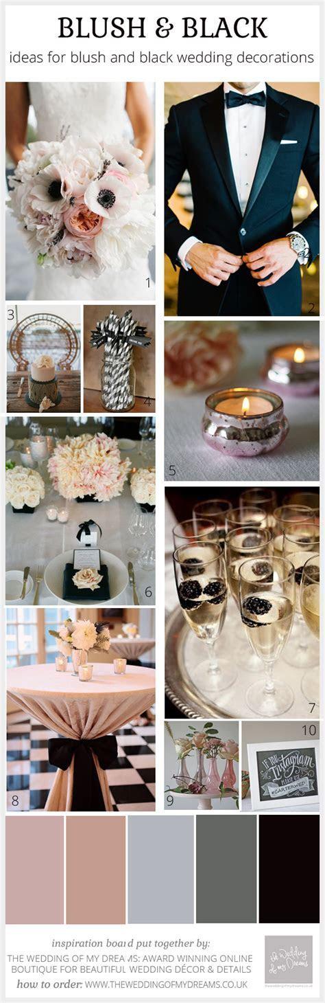 Blush Pink & Black Wedding Ideas, Decorations and Inspiration