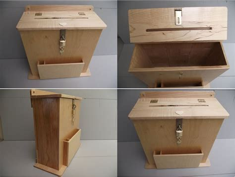 Large Suggestion Box or Wedding Card Holder Reclaimed Wood
