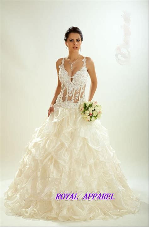 Transparent White Wedding Dresses Design   Wedding dresses