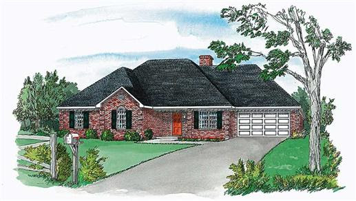 Small, European House Plans - Home Design RG1405 # 1769