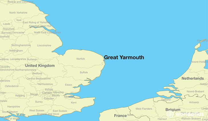 77986 great yarmouth locator map