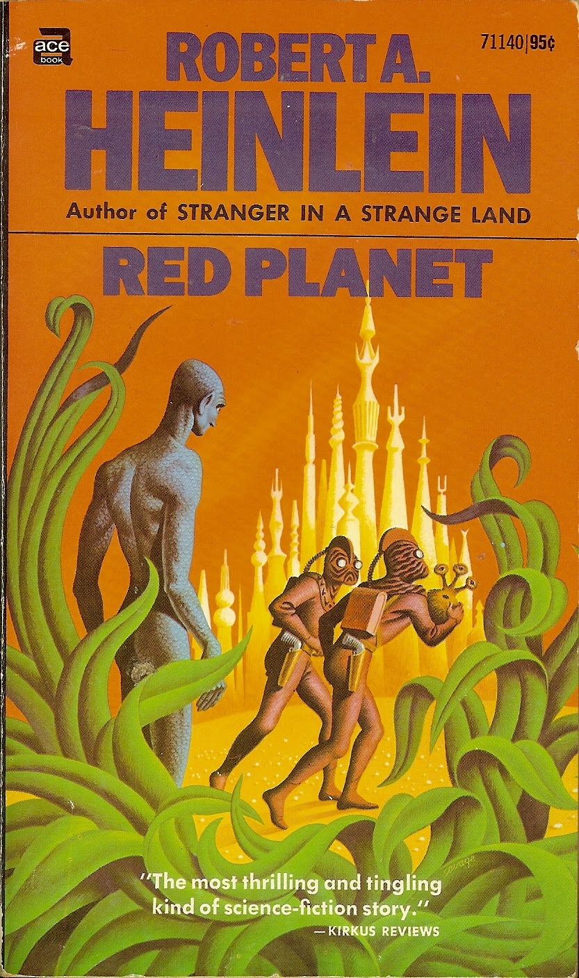 Steele Savage - Cover for Robert A. Heinlein - Red Planet, 1971
