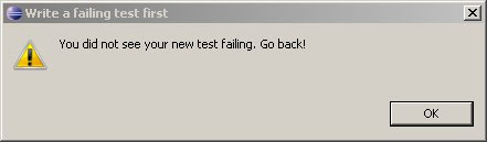 Alert! New Test Did Not Fail
