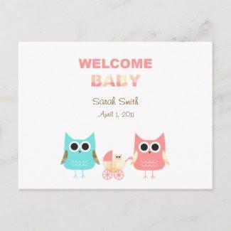 Baby Annoucement Postcard postcard