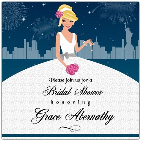 Enchanted New York City Bridal Shower Invitations   PaperStyle
