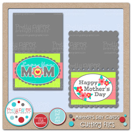 Mother's Day Cards Cutting Files