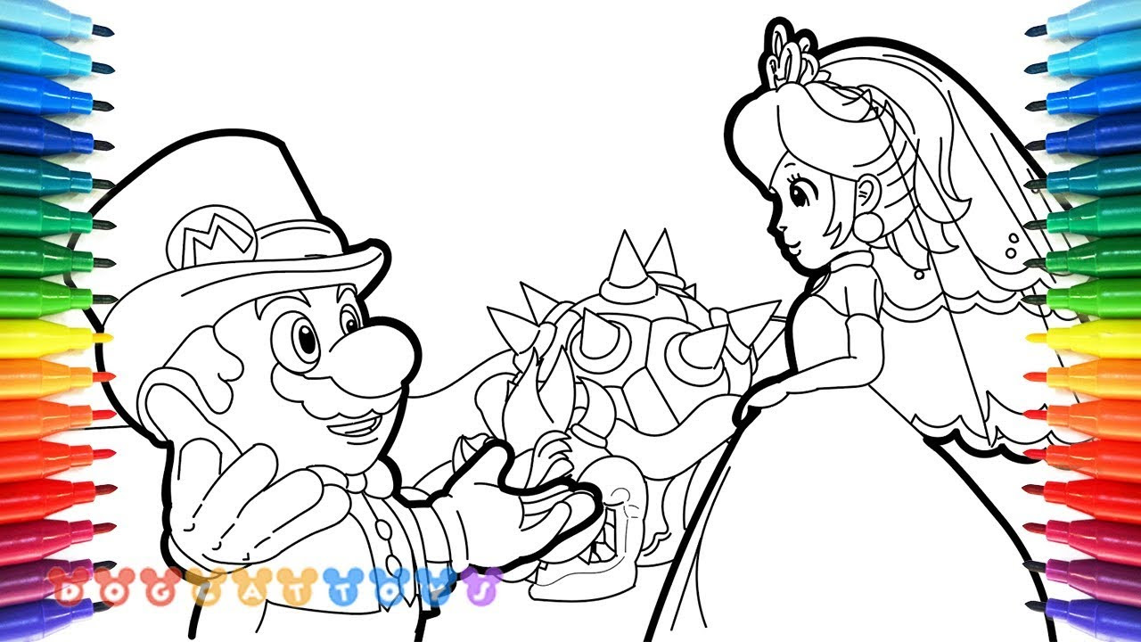 bowser cappy super mario odyssey coloring pages