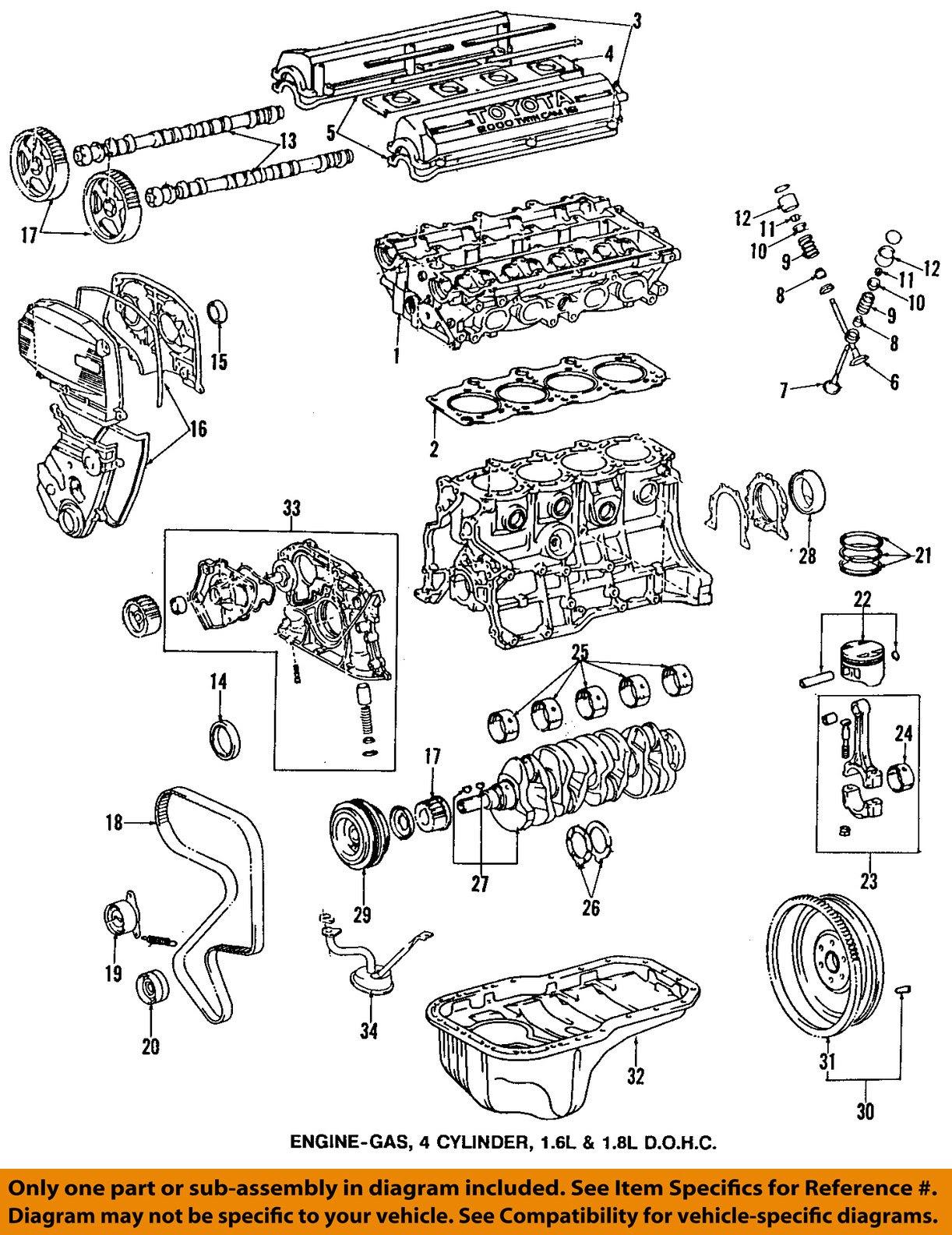 TOYOTA OEM 95-97 Corolla-Engine Timing Gear Sprocket ...