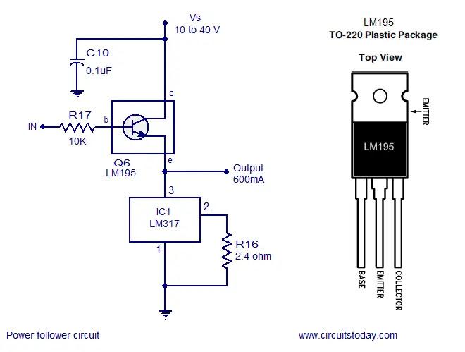 LM317 power follower