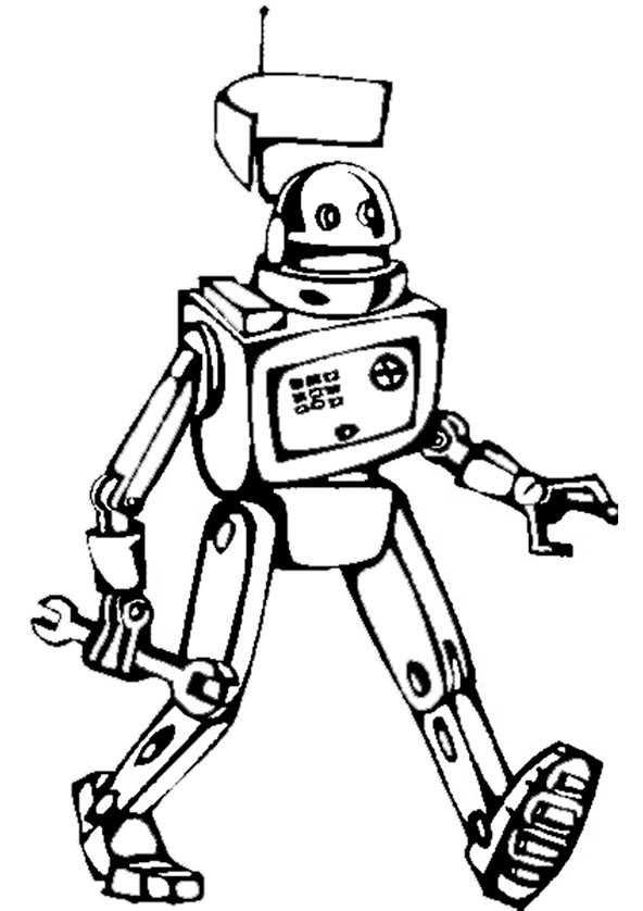 malvorlagen roboter indonesia