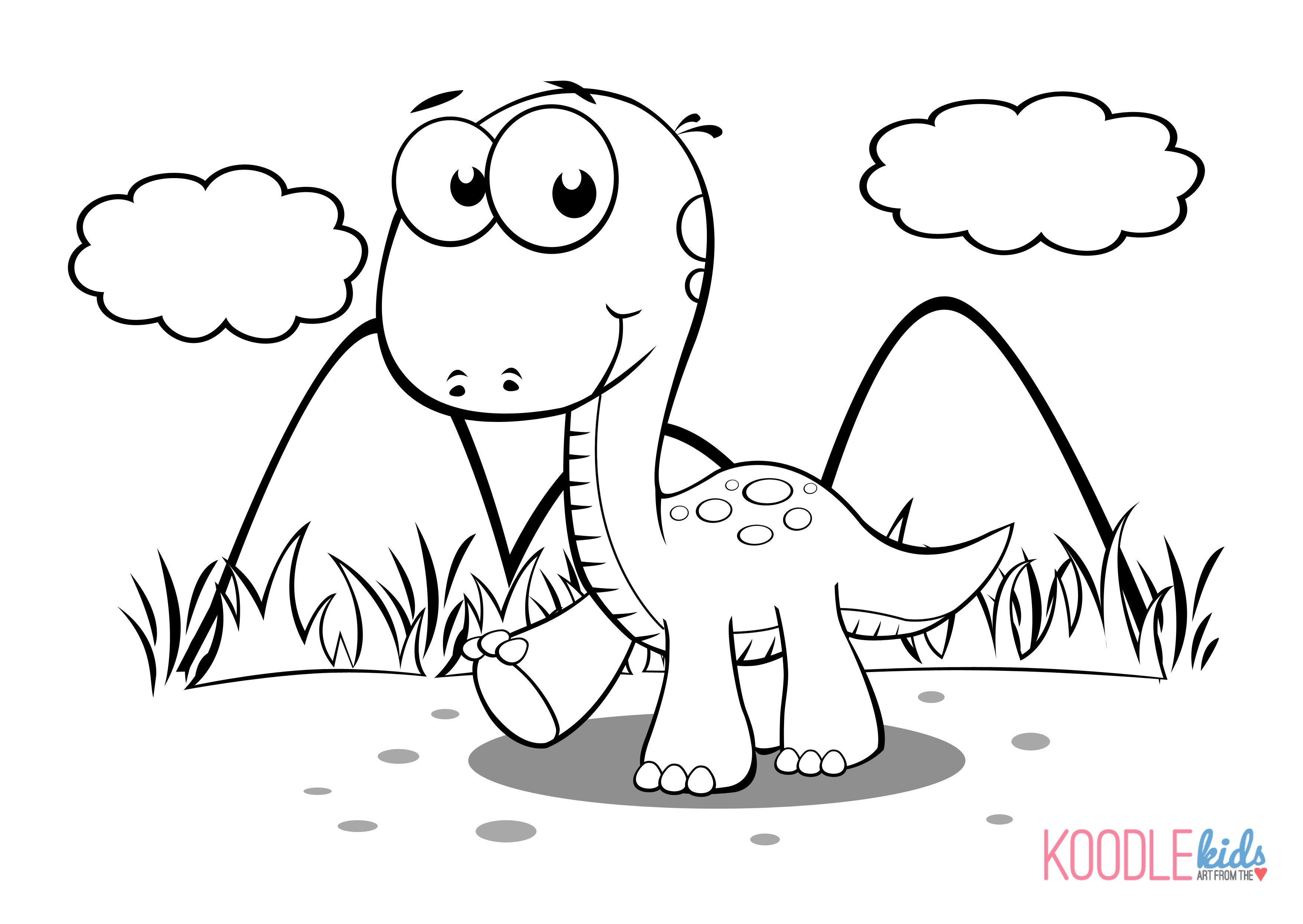 Dinosaur Coloring Pages | Skip To My Lou | 2490x3510