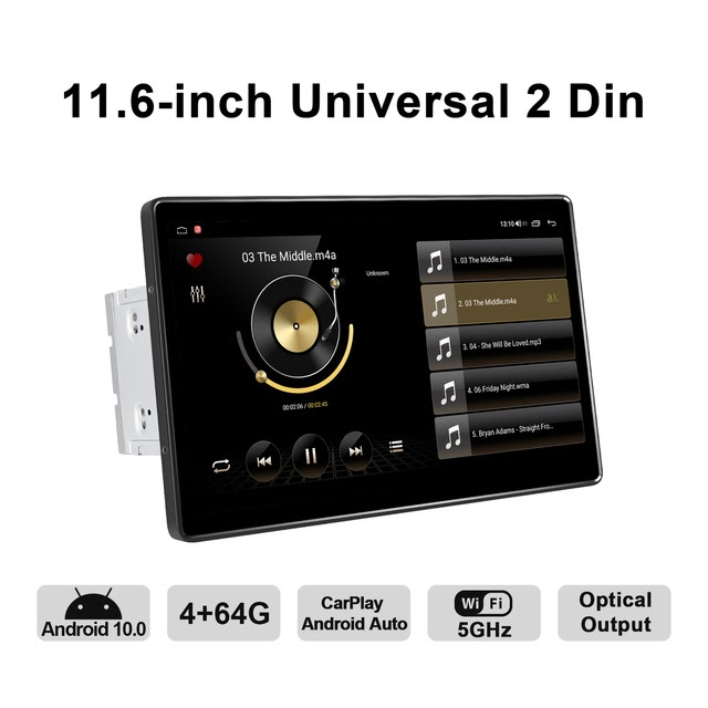 Limited Offer 2 din car radio Android 10.0 4GB+64GB/6GB+128GB universal GPS Navigation video stereo 1920*1080 IPS support 4G/wireless carplay