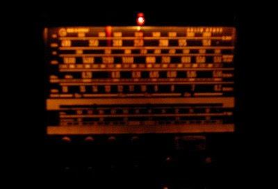 grundig stereo concert-boy transistor 4000 radio in the dark