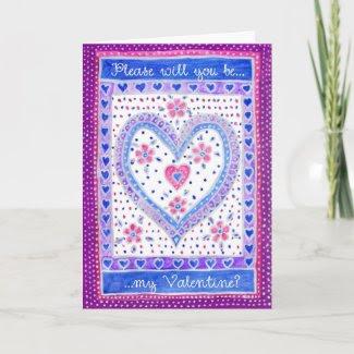 Valentine Heart Greeting Card card