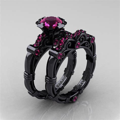 Art Masters Caravaggio 14K Black Gold 1.0 Ct Pink Sapphire