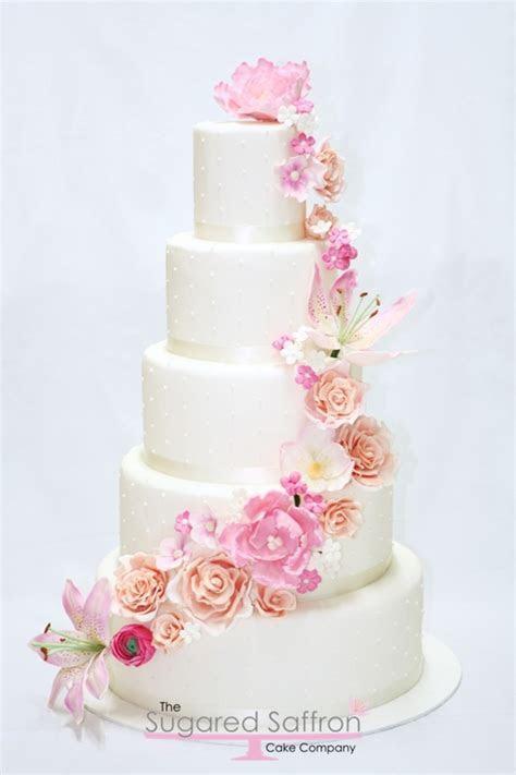 Sugar Flower Cascade Cake   CakeCentral.com