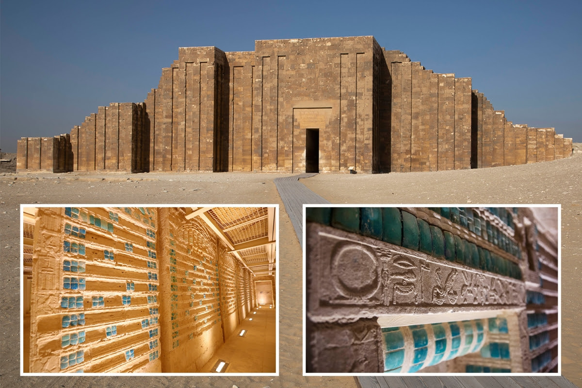 Ancient tomb of Egyptian King Djoser opened 4,500 YEARS after burial – revealing stunning chambers...