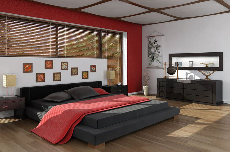 Asian Interior Design Bedroom 3D Model - CGTrader.