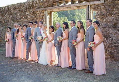 Peach bridesmaid dresses, donna Morgan   Weddings Galore