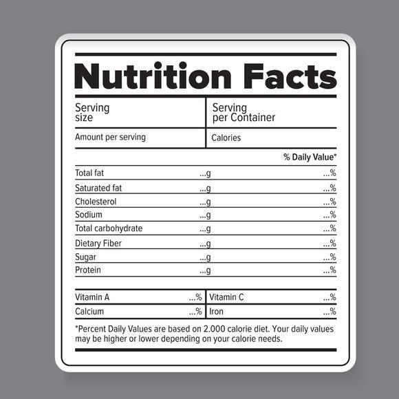 Ingredient Label Template. Round Customized Ingredient Label ...