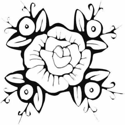 coloring pages for adults rose flower coloring pages kids color print